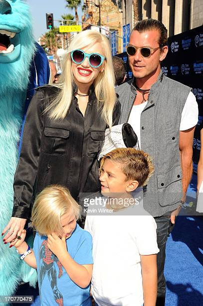 """Gwen Stefani, Gavin Rossdale and sons Zuma and Kingston Rossdale attend the world premiere of Disney Pixar's """"Monsters University"""" at the El Capitan..."""