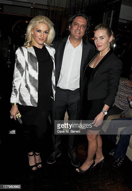 Gwen Stefani Giorgio Locatelli and Kate Winslet attend a book launch party for Chef Giorgio Locatelli's new book Made In Sicily at Locanda Locatelli...