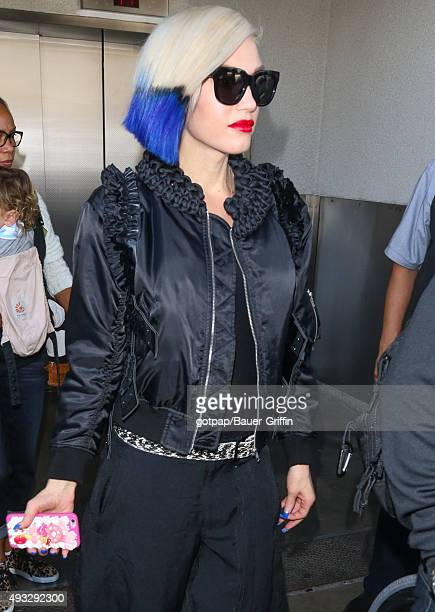 Gwen Stefani is seen ay LAX on October 18 2015 in Los Angeles California