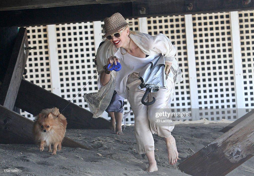 Gwen Stefani is seen in Malibu on July 13, 2013 in Los Angeles, California.