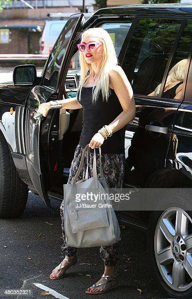 Gwen Stefani is seen on August 01 2013 in London United Kingdom