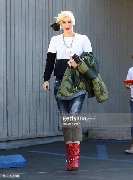 Gwen Stefani is seen on December 12 2015 in Los Angeles California