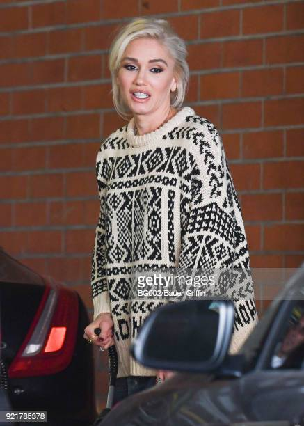 Gwen Stefani is seen on February 20 2018 in Los Angeles California