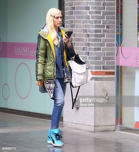 Gwen Stefani is seen on January 18 2016 in Los Angeles California