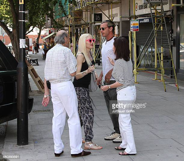 Gwen Stefani is seen with Gavin Rossdale on August 01 2013 in London United Kingdom