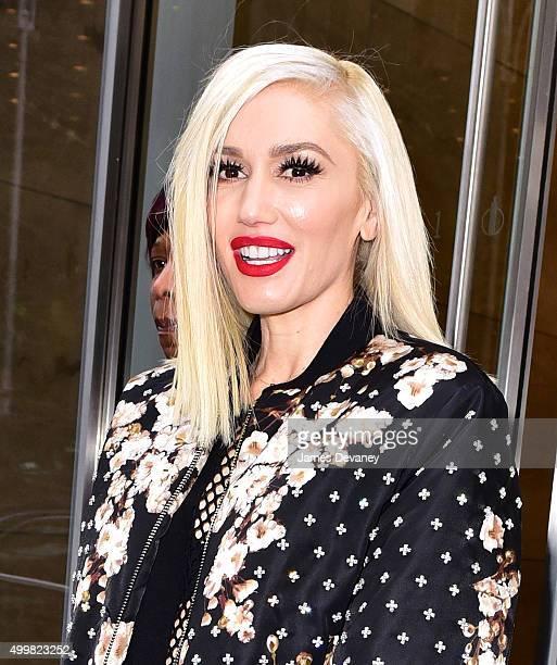 Gwen Stefani leaves SiriusXM Studios on December 3 2015 in New York City