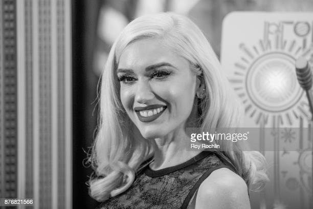 Gwen Stefani lights The Empire State Building to promote The Holiday Light Show at The Empire State Building on November 20 2017 in New York City