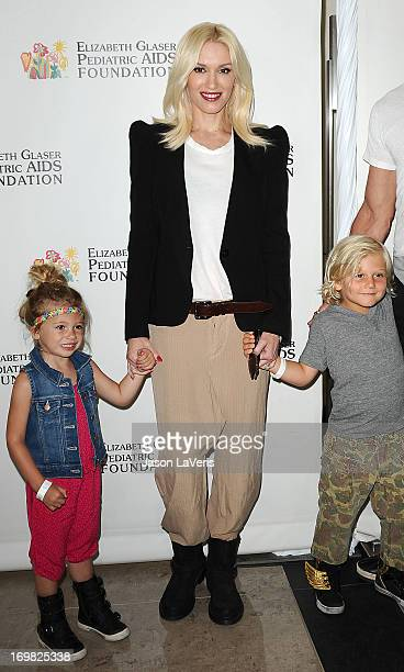 Gwen Stefani niece Stella Stefani and son Zuma Rossdale attend the Elizabeth Glaser Pediatric AIDS Foundation's 24th annual A Time For Heroes at...