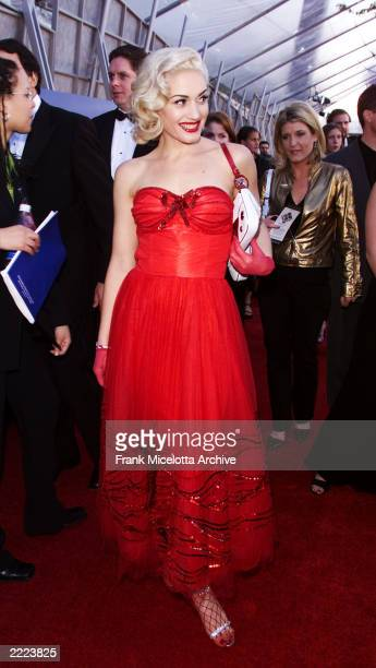 Gwen Stefani of No Doubt arrives at the 43rd Annual Grammy Awards at Staples Center in Los Angeles CA on February 21 2001 Photo credit Frank...