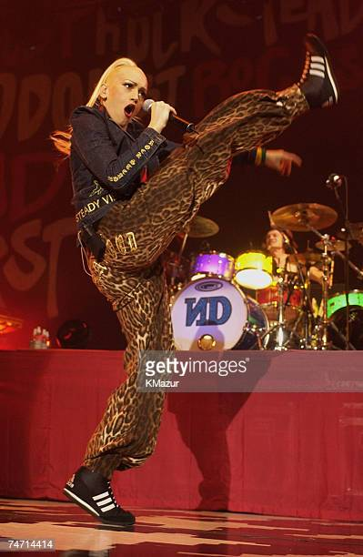 Gwen Stefani of No Doubt at the Roseland Ballroom in New York City New York