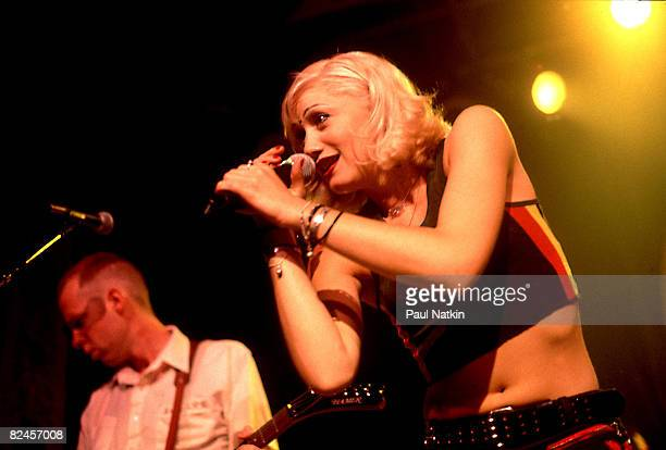 Gwen Stefani of No Doubt on 8/9/96 in Chicago Il