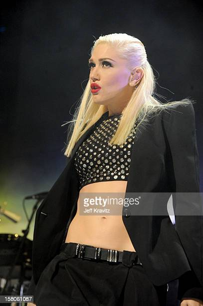 Gwen Stefani of No Doubt performs at the KROQ Acoustic Xmas show at Gibson Amphitheatre on December 9 2012 in Universal City California