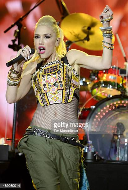 Gwen Stefani of No Doubt performs during KAABOO Festival 2015 at Del Mar Fairgrounds on September 18 2015 in Del Mar California