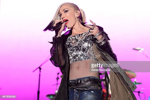 Gwen Stefani of No Doubt performs during Riot Fest Chicago 2015 at Douglas Park on September 11 2015 in Chicago Illinois