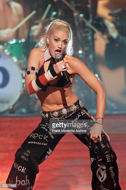 Gwen Stefani of No Doubt performs live at the 2001 Billboard Music Awards held at the MGM Grand Hotel Casino in Las Vegas NV Tuesday Dec 4 2001