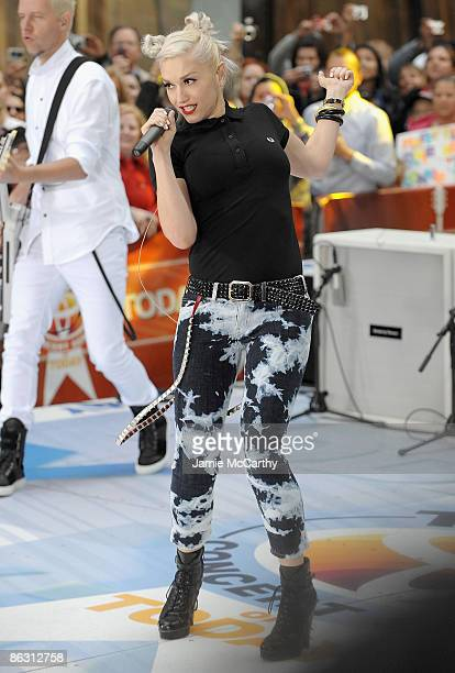Gwen Stefani of No Doubt performs on NBC's Today at Rockefeller Center on May 1 2009 in New York City