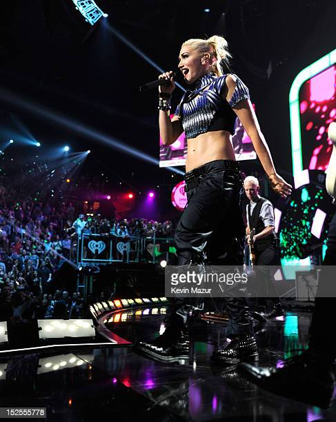Gwen Stefani of No Doubt performs onstage during the 2012 iHeartRadio Music Festival at MGM Grand Garden Arena on September 21 2012 in Las Vegas...