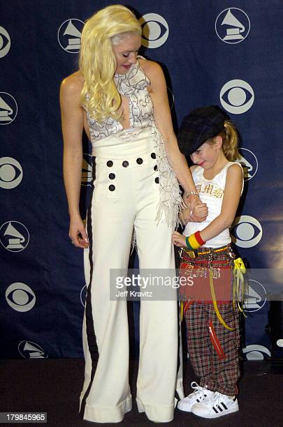 Gwen Stefani of No Doubt winner of Best Pop Performance by a Duo or Group with Vocal Award with niece Madeline