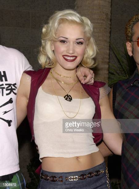 Gwen Stefani of the music group No Doubt arrives at the 2000 Billboard Music Awards December 5 2000 at the MGM Grand Hotel in Las Vegas NV