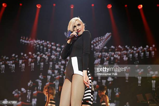 Gwen Stefani performs in a concert presented by MasterCard exclusively for its cardmembers at Hammerstein Ballroom at the Manhattan Center on October...