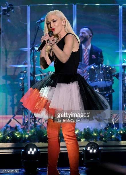 Gwen Stefani performs on 'The Tonight Show Starring Jimmy Fallon' at Rockefeller Center on November 21 2017 in New York City