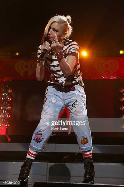 Gwen Stefani performs onstage during iHeartRadio Jingle Ball 2014 hosted by Z100 New York and presented by Goldfish Puffs at Madison Square Garden on...