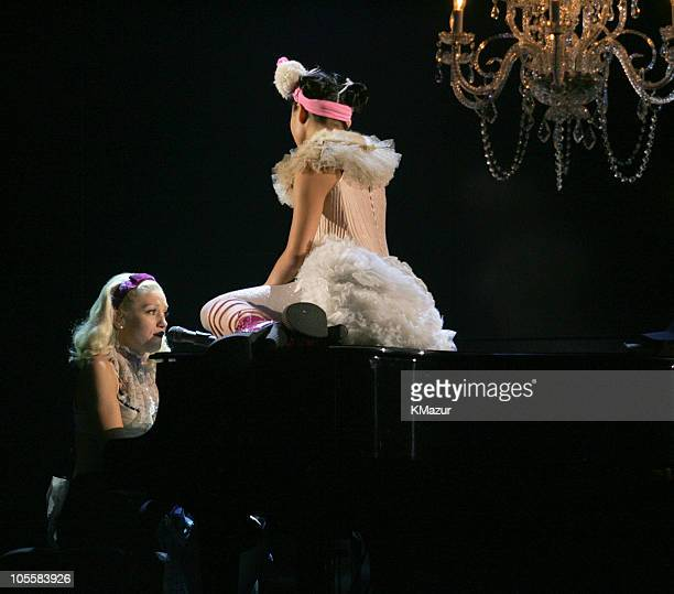 Gwen Stefani performs What You Waiting For during 2004 Billboard Music Awards Show at MGM Grand Garden in Las Vegas Nevada United States