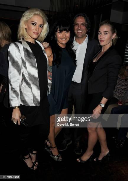 Gwen Stefani Plaxy Locatelli Giorgio Locatelli and Kate Winslet attend a book launch party for Chef Giorgio Locatelli's new book Made In Sicily at...