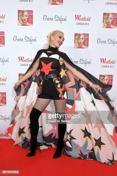 Gwen Stefani prepares to host festive celebrations and the switching on of Westfield LondonÕs Christmas Lights at Westfield on November 30 2017 in...