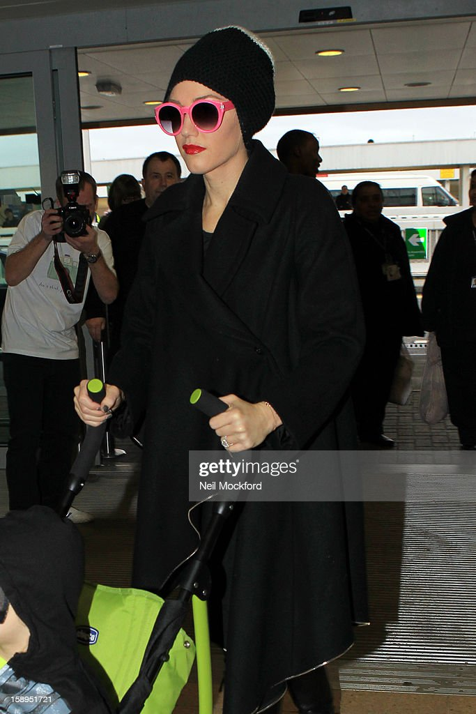 Gwen Stefani seen at Heathrow Airport on January 4, 2013 in London, England.