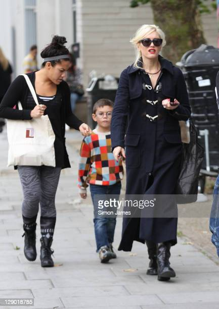 Gwen Stefani seen out with her son Kingston on October 10 2011 in London England