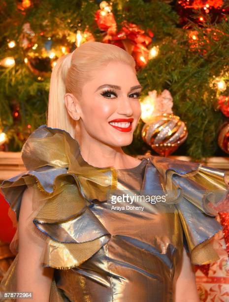 Gwen Stefani signs her new album You Make It Feel Like Christmas at The Grove on November 24 2017 in Los Angeles California