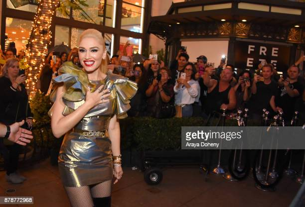 Gwen Stefani signs her new album 'You Make It Feel Like Christmas' at The Grove on November 24 2017 in Los Angeles California