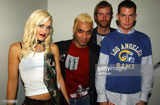 Gwen Stefani, Tony Kanal, Tom Dumont and Adrian Young of No Doubt