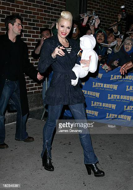 Gwen Stefani with son Kingston during Gwen Stefani and Howard Stern Depart Late Show with David Letterman December 12 2006 at Ed Sullivan Theater in...