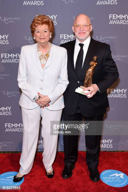 Gwen Widell and Donald R Allen Jr attend 2018 Femmy Awards hosted by Dita Von Teese on February 6 2018 in New York City
