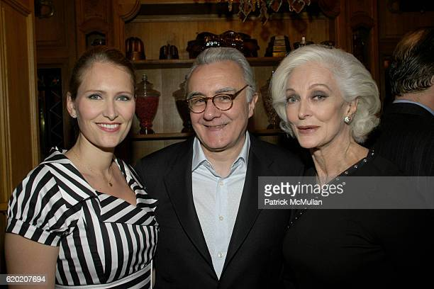Gwenaelle Gueguen Alain Ducasse and Carmen Dell'Orefice attend Benoit Opening Party Hosted by Pamela Fiori and Alain Ducasse at Benoit Restaurant on...