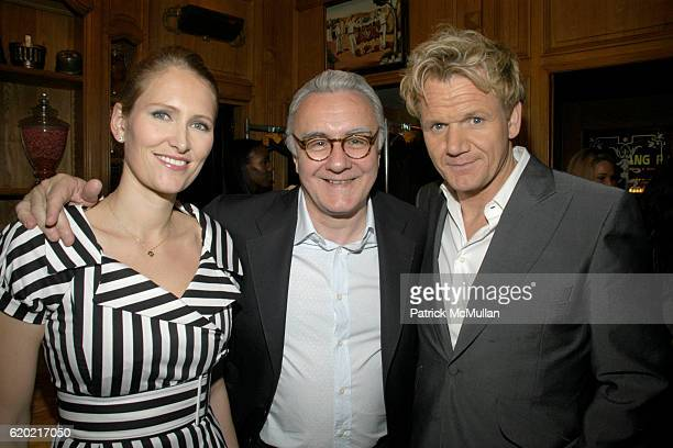 Gwenaelle Gueguen Alain Ducasse and Gordon Ramsay attend Benoit Opening Party Hosted by Pamela Fiori and Alain Ducasse at Benoit Restaurant on April...