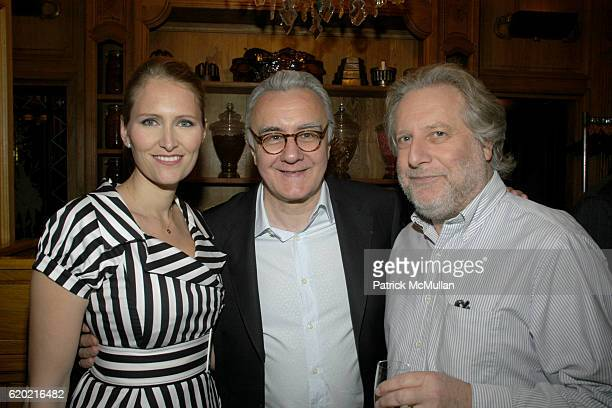 Gwenaelle Gueguen Alain Ducasse and Jonathan Waxman attend Benoit Opening Party Hosted by Pamela Fiori and Alain Ducasse at Benoit Restaurant on...