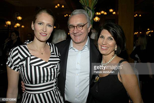 Gwenaelle Gueguen Alain Ducasse and Pamela Fiori attend Benoit Opening Party Hosted by Pamela Fiori and Alain Ducasse at Benoit Restaurant on April...
