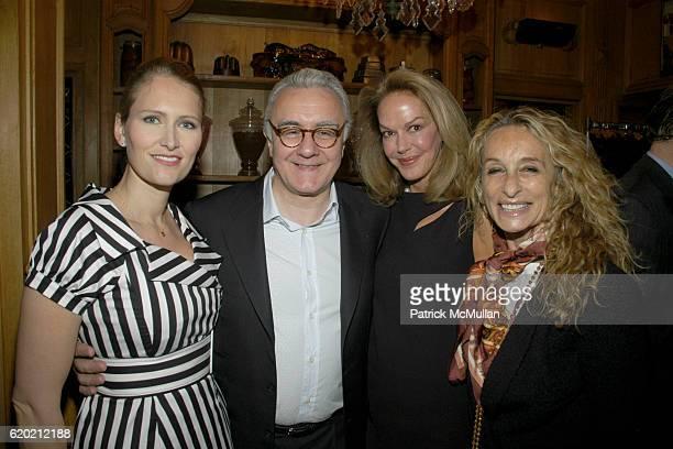 Gwenaelle Gueguen Alain Ducasse Cece Cord and Ann Dexter Jones attend Benoit Opening Party Hosted by Pamela Fiori and Alain Ducasse at Benoit...