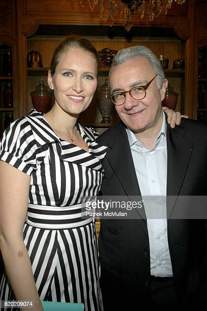 Gwenaelle Gueguen and Alain Ducasse attend Benoit Opening Party Hosted by Pamela Fiori and Alain Ducasse at Benoit Restaurant on April 30 2008 in New...