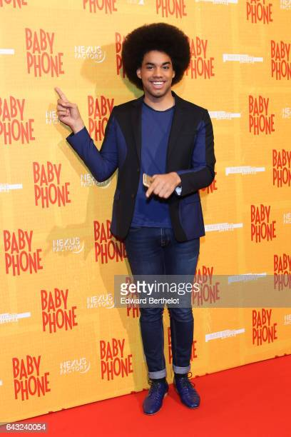 Gwendal Marimoutou during Baby Phone Paris Premiere at Cinema UGC Normandie on February 20 2017 in Paris France