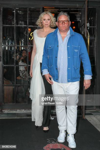 Gwendoline Christie and Giles Deacon are seen on September 07 2017 in New York City