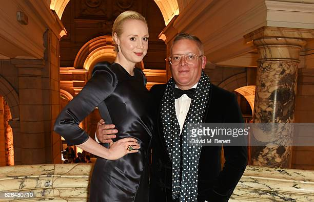 Gwendoline Christie and Giles Deacon attend as PORTER hosts a special performance of Letters Live in celebration of their Incredible Women of 2016 at...