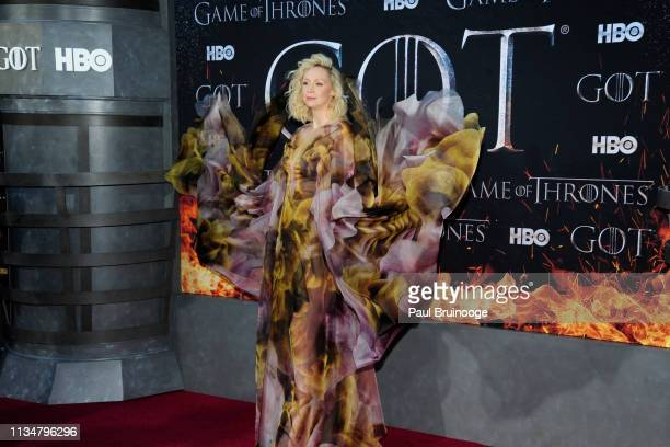 Gwendoline Christie attends Game Of Thrones New York Premiere at Radio City Music Hall NYC on April 3 2019 in New York City