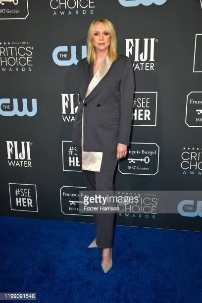 Gwendoline Christie attends the 25th Annual Critics' Choice Awards at Barker Hangar on January 12, 2020 in Santa Monica, California.