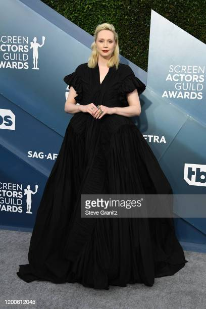 Gwendoline Christie attends the 26th Annual Screen Actors Guild Awards at The Shrine Auditorium on January 19 2020 in Los Angeles California