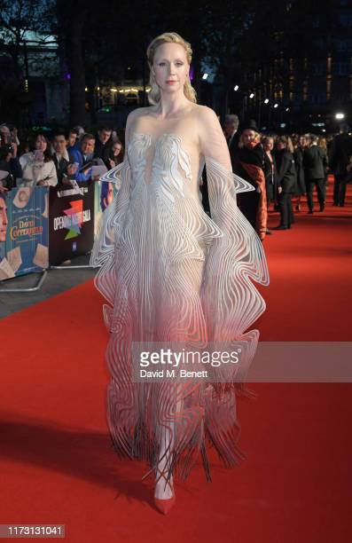 Gwendoline Christie attends the 63rd BFI London Film Festival Opening Night Gala Screening and European Premiere of The Personal History Of David...