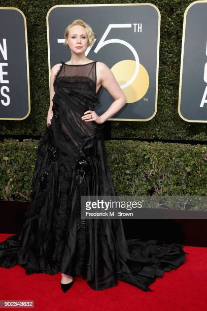 Gwendoline Christie attends The 75th Annual Golden Globe Awards at The Beverly Hilton Hotel on January 7 2018 in Beverly Hills California